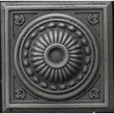 Renaissance 2 x 2 Metal Pompei Insert Decorative Accent Tile in Antique Nickel
