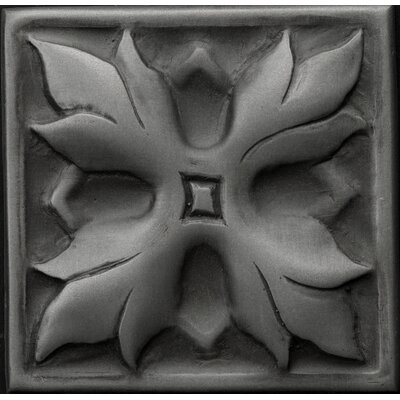 Renaissance 4 x 4 Metal Sicily Decorative Accent Tile in Antique Nickel