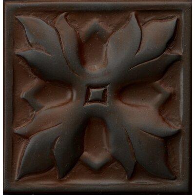 Renaissance 4 x 4 Metal Sicily Decorative Accent Tile in Rust Iron