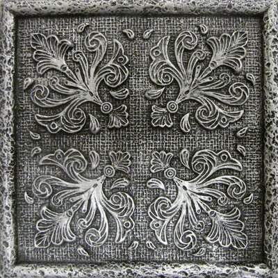 Camelot 4 x 4 Metal Merlin Decorative Accent Tile in Gray