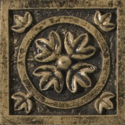 Camelot 2 x 2 Metal Guinevere Dot Decorative Accent Tile in Bronze