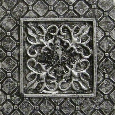 Camelot 2 x 2 Metal Igraine Dot Decorative Accent Tile in Silver