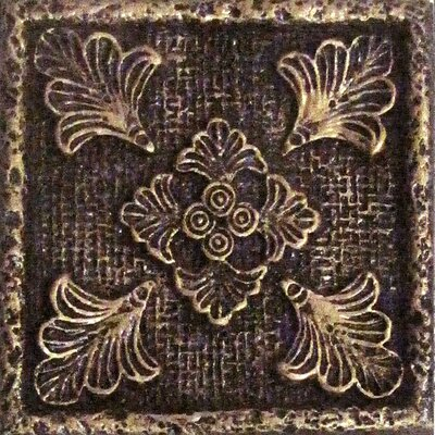 Camelot 2 x 2 Metal Merlin Dot Decorative Accent Tile  in Bronze