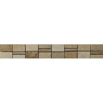 Odyssey 2 x 13 Ceramic Listello Tile in Brown/Beige