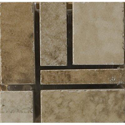 Odyssey 2 x 2 Ceramic Listello Corner Tile in Brown