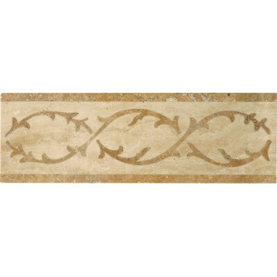 Natural Stone 12 x 4 Lario Waterjet Travertine Listello