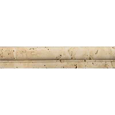 2 x 12 Travertine Cottage Tumbled OG Liner Tile in Ivory
