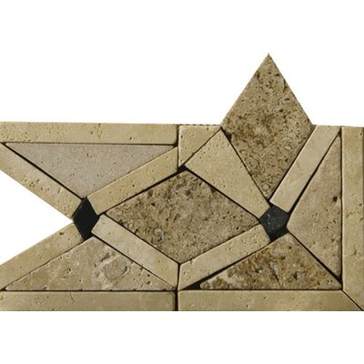 4 x 4 Arctic Travertine Listello Corner