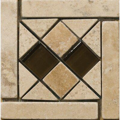 Natural Stone 4 x 4 Sorapis Travertine Listello Corner