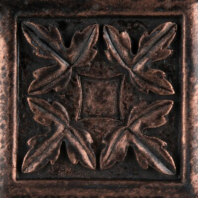 Camelot 2 x 2 Metal Arthur Dot Decorative Accent Tile in Copper