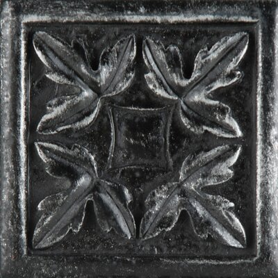 Camelot 2 x 2 Metal Arthur Dot Decorative Accent Tile in Iron