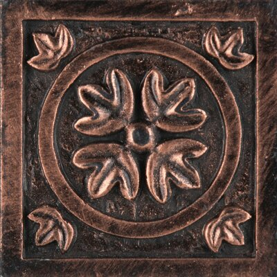 Camelot 2 x 2 Metal Guinevere Dot Decorative Accent Tile in Copper
