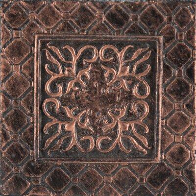 Camelot 2 x 2 Metal Igraine Dot Decorative Accent Tile in Copper
