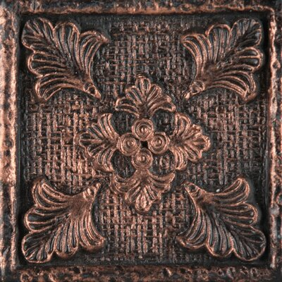 Camelot 2 x 2 Metal Merlin Dot Decorative Accent Tile in Copper