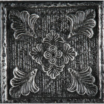 Camelot 2 x 2 Metal Merlin Dot Decorative Accent Tile in Iron