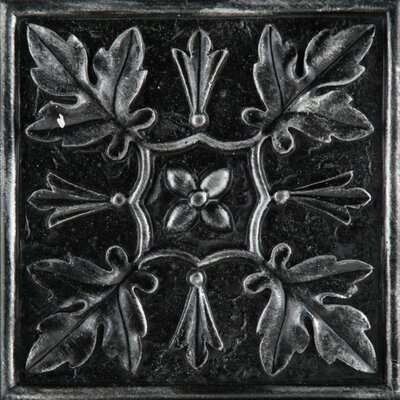 Camelot 4 x 4 Metal Arthur Decorative Accent Tile in Iron