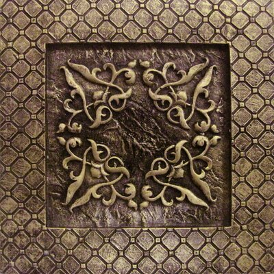 Camelot 4 x 4 Metal Igraine Decorative Accent Tile in Bronze
