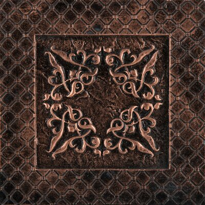 Camelot 4 x 4 Metal Igraine Decorative Accent Tile in Copper