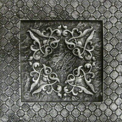 Camelot 4 x 4 Metal Igraine Decorative Accent Tile in Silver