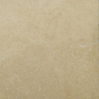 Travertine 6 x 6 Unfilled and Tumbled Tile in Ivory Classic