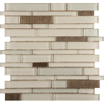 Flash 12 x 13 Glass Linear Mosaic Tile in Beaming