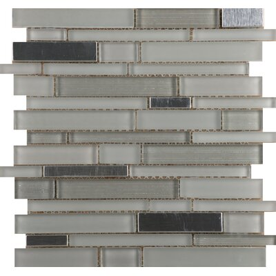 Flash 12 x 13 Glass Linear Mosaic Tile in Bright