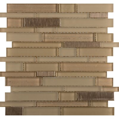 Flash 12 x 13 Glass Linear Mosaic Tile in Brilliant