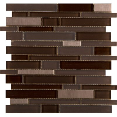 Flash 12 x 13 Glass Linear Mosaic Tile in Illuminated