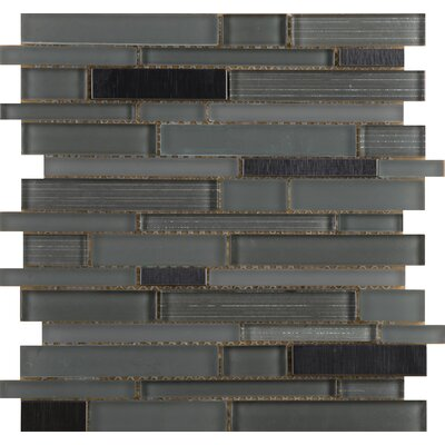 Flash 12 x 13 Glass Linear Mosaic Tile in Lambent