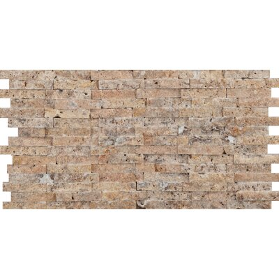 Hamlet 6 x 12 Travertine Splitface Mosaic Tile in Scabos