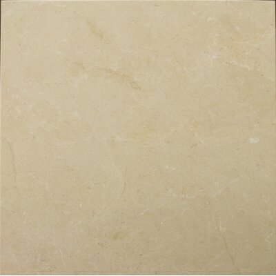 "Crema Marfil 18"" x 18"" Polished/Honed Marble Tile in Crema Marfil"