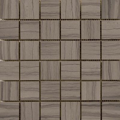 Metro 2 x 2/12 x 12 Marble Mosaic Tile in Vein Cut Honed Taupe