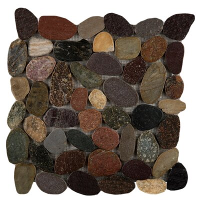 Flat Rivera Pebbles 12 x 12 Mosaic in Natrual Blend