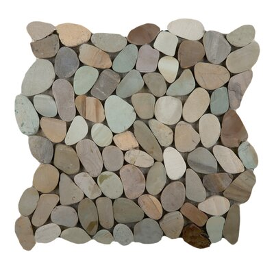 Flat Venetian Pebbles 12 x 12 Mosaic Tile in Pastel Blend
