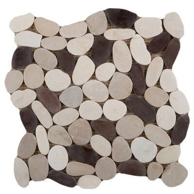 Flat Venetian Pebbles 12 x 12 Mosaic Tile in Gelato Blend
