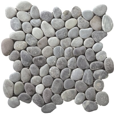 Venetian Pebbles 12 x 12 Mosaic Tile in Silver