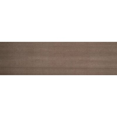 Perspective 6 x 24 Porcelain Fabric Look/Field Tile in Brown