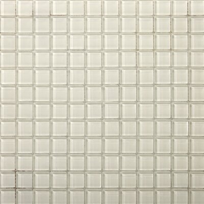 Lucente 1 x 1 Glass Mosaic Tile in Blanc