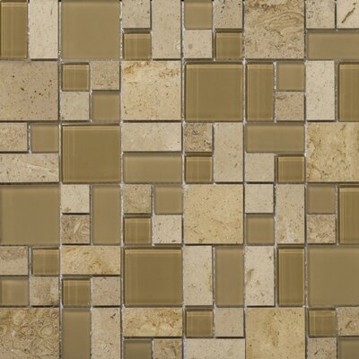 Lucente 13 x13 Glass Stone Blend Pattern Mosaic Tile in Regale