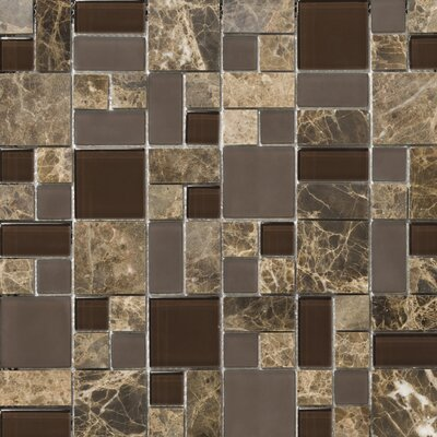 Lucente 13 x13 Glass Stone Blend Pattern Mosaic Tile in Vetro