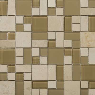Lucente 13 x13 Glass Stone Blend Pattern Mosaic Tile in Murano