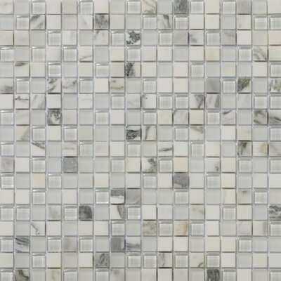 Lucente 0.6 x0.6/12 x 12 Glass Stone Blend Mosaic Tile in Ambrato