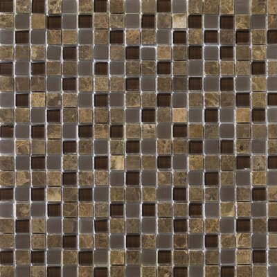 Lucente 0.6 x0.6/12 x 12 Glass Stone Blend Mosaic Tile in Vetro