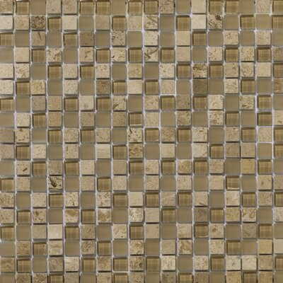 Lucente 0.6 x0.6/12 x 12 Glass Stone Blend Mosaic Tile in Regale