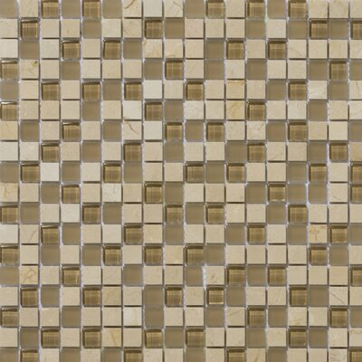 Lucente 0.63 x 0.63 Stone and Glass Mosaic Tile in Murano