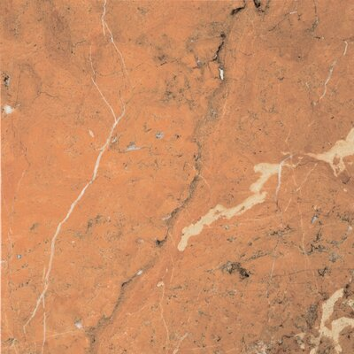 "Natural Stone 12"" x 12"" Marble Tile in Rojo Alicante"