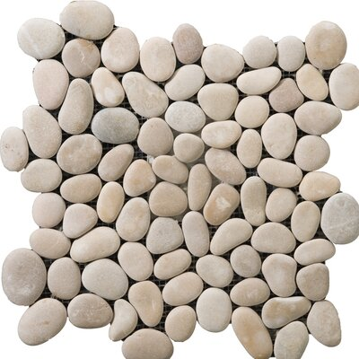 Venetian Pebbles 12 x 12 Mosaic Tile in Natural Texture Calacata Polished