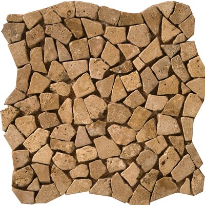 Travertine 12 x 12 Pebble Mosaic in Mocha