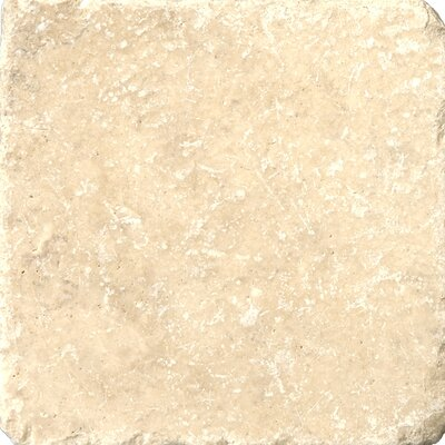 Travertine 4 x 4 Tile in Cream Tumbled