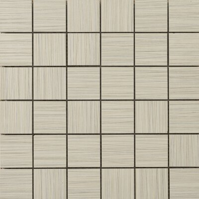 Strands 2 x 2/12 x 12 Porcelain Mosaic Tile in Oyster